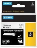 Banda ID1 polyester permanent 19 mm x 5.5 m negru-alb Dymo