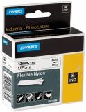 Banda ID1 Nylon flexibil 12 mm x 3.5 m Dymo negru-alb