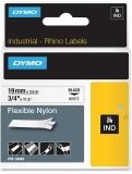 Banda ID1 Nylon flexibil 19 mm x 3.5 m Dymo negru-alb