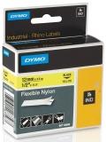 Banda ID1 Nylon flexibil 12 mm x 3.5 m Dymo negru-galben