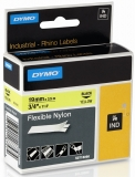 Banda ID1 Nylon flexibil 19 mm x 3.5 m Dymo negru-galben