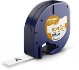Banda Letratag nylon Iron-on 12 mm x 2 m alba Dymo