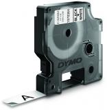 Banda etichete D1 Durable 12 mm x 5,5 m negru/alb Dymo