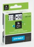 Banda D1 9 mm x 7 m negru-alb Dymo