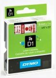 Banda D1 9 mm x 7 m rosu-alb Dymo