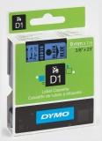 Banda D1 9 mm x 7 m negru-albastru Dymo