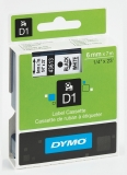 Banda D1 6 mm x 7 m negru-alb Dymo