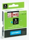 Banda D1 12 mm x 7 m rosu-alb Dymo