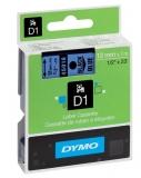 Banda D1 12 mm x 7 m negru-albastru Dymo