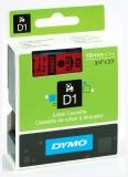 Banda D1 19 mm x 7 m negru-rosu Dymo