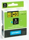 Banda D1 19 mm x 7 m negru-galben Dymo
