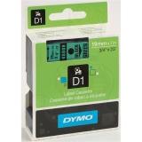 Banda D1 19 mm x 7 m, negru / verde, Dymo