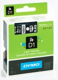 Banda D1 19 mm x 7 m alb-negru Dymo