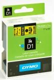 Banda D1 24 mm x 7 m negru-galben Dymo