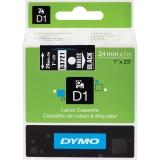 Banda D1 24 mm x 7 m, alb / negru, Dymo