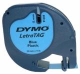 Banda Letratag plastic 12mm x 4m albastra Dymo