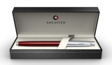 Stilou Translucent Red & Brushed Chrome NT 100 Sheaffer