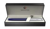 Stilou Translucent Blue & Brushed Chrome NT 100 Sheaffer