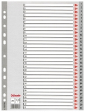 Index din plastic, A4, index 1-31, Esselte