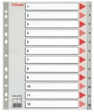 Index din plastic, A4 Maxi, index 1-12, Esselte