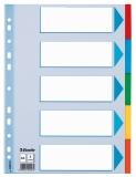Separatoare din carton standard A4, 5 coli/set Esselte