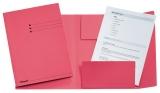 Dosar carton color, tip plic, Esselte roz