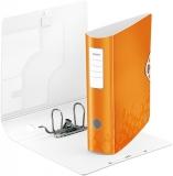 Biblioraft A4 82 mm 180° Active WOW Leitz portocaliu metalizat
