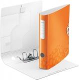 Biblioraft A4 65 mm 180° Active WOW Leitz portocaliu metalizat
