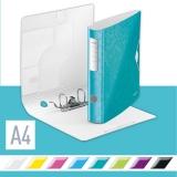 Biblioraft 180° Active WOW, polyfoam, A4, 65 mm, Leitz, turcoaz metalizat