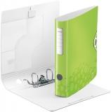 Biblioraft A4 65 mm 180° Active WOW Leitz verde metalizat