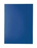 Mapa A4 Economy din carton cu elastic Esselte albastru inchis