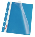 Dosar cu multiperforatii PP, A4, 10 buc/set, VIVIDA albastru, Esselte