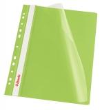 Dosar cu multiperforatii PP, A4, 10 buc/set, VIVIDA verde, Esselte