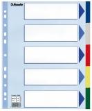 Separator din plastic PP, A4 Maxi 5 buc/set Esselte