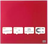 Tabla Diamond magnetica din sticla 30 x 30 cm rosu Nobo