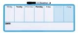Organizator saptamanal 36 x 14 cm albastru Nobo