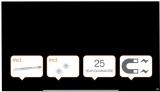 Tabla magnetica din sticla Diamond Widescreen  85 inch negru Nobo