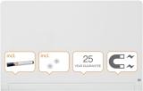 Tabla magnetica din sticla cu colturi rotunjite Diamond Widescreen 57 inch alb Nobo