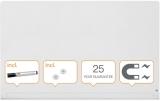 Tabla magnetica din sticla cu colturi rotunjite Diamond Widescreen 85 inch alb Nobo