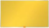 Panou Widescreen 32 inch din material textil galben Nobo