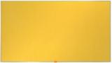 Panou Widescreen 55 inch din material textil galben Nobo