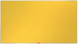 Panou Widescreen 85 inch din material textil galben Nobo