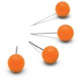 Pioneze pentru panouri, portocaliu, 100 buc/set Nobo