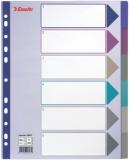 Separatoare din plastic A4 Maxi translucid 1-6 Esselte