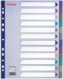Separatoare din plastic A4 Maxi translucid 1-12 Esselte