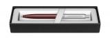 Pix Sentinel Burgundy & Brush Chrome NT Sheaffer