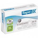 Capse standard 26/6 1000 bucati/cutie Rapid
