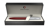 Pix Translucent Red Brushed Chrome NT 100 Sheaffer