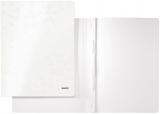 Dosar carton color, cu sina, WOW, 250 coli, Leitz alb metalizat
