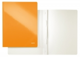 Dosar carton color, cu sina, WOW, 250 coli, Leitz portocaliu metalizat